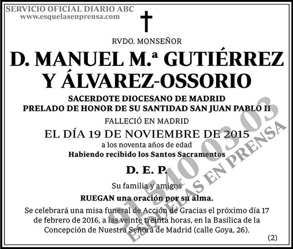 Manuel M.ª Gutiérrez y Álvarez-Ossorio